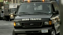 NYPD Traffic Vehicle Stock Footage