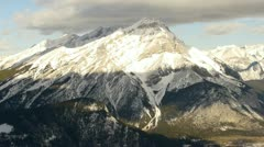 Time-lapse over Sulphur Mountain – BANFF, CANADA Stock Footage