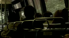 New York City Bus Passengers Seated  Stock Footage