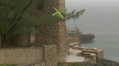Tropical Storm Jamaican Flag Stock Footage
