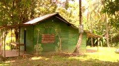 Rastafarian Shack Jungle Jamaica - stock footage