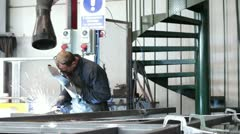 Welding - dolly Stock Footage