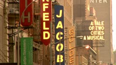 New York City, Broadway Theater District Stock Footage