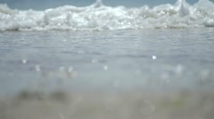 The waves beat against the beach Stock Footage