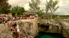 Stock Video Footage of Cliff Diving Rick's Cafe