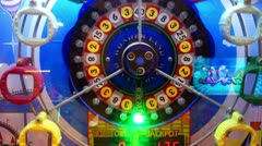Casino game machine rolling Stock Footage