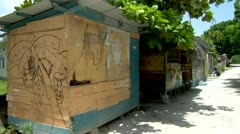 Shacks, Jamaica - stock footage