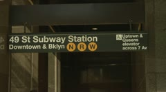 49th Street Subway Station Entrance Manhattan Stock Footage