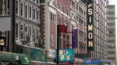New York City Broadway Theater District - stock footage
