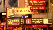 Stock Video Footage of New York City, Broadway Theater District, Legally Blond
