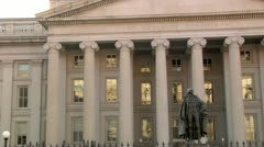 Stock Video Footage of US Department of the Treasury Building Treasury Department