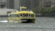 Stock Video Footage of New York Water Taxi Uptown Turning