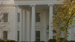 White House, North Side Static Tight, Right Side Tree Stock Footage