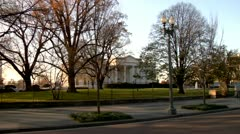 White House, North Side Wide Shot Push-In Stock Footage