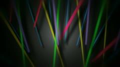 Multicolor glow stick Stock Footage