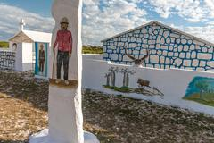 malagasy traditional tomb - stock photo