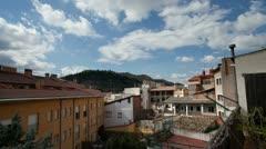 Spain town village nice cloud Stock Footage