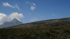 Pan from left to Kilimanjaro summit Stock Footage