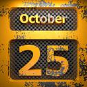 October 25 of painted steel Stock Illustration