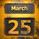 March 25 of painted steel Stock Illustration