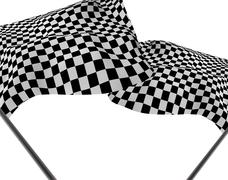Large checkered flag Stock Illustration
