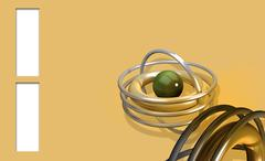 background with green  ball - stock illustration