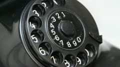 Old phone dialing detail Stock Footage