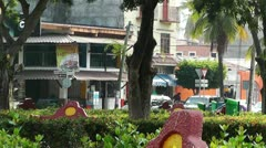 Oaxaca Crucecita Town Mexico 2 Stock Footage