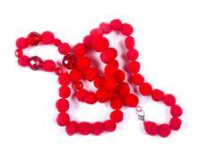 Red beads Stock Photos