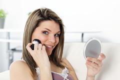 beautiful make-up - stock photo