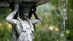 Statue and fountain Stock Footage