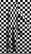 Checkered man on the wal Stock Illustration