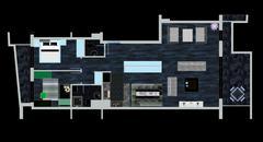 home floor plan - stock illustration