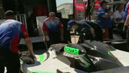Stock Video Footage of Mechanics are fixing the racing car