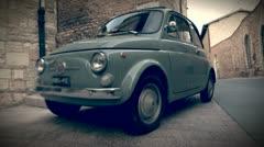 Vintage car, a symbol of italy Stock Footage