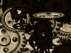 Moving gears Particles Stock Footage