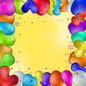Balloons and stars Stock Illustration