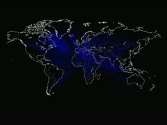 Mapa Mundi - world map Vj Loops Stock Footage