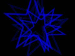 Vj Loops Star colors Vortex - stock footage