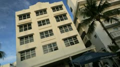 South Beach Miami home to luxury Art Deco hotels, USA - stock footage