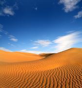 Evening desert landscape Stock Photos