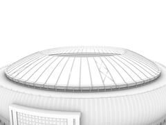 Sport arena. 3d illustration in wireframe view Stock Illustration