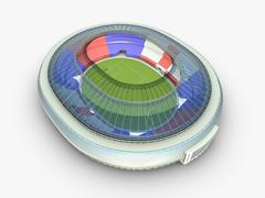 Sport arena. stadium 3d illustration Stock Illustration