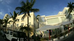 Ocean Drive South Beach Miami Art Deco hotels, Florida, USA - stock footage