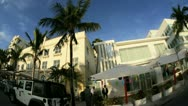 Stock Video Footage of Ocean Drive South Beach Miami Art Deco hotels, Florida, USA