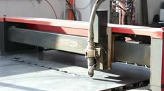 machine for cutting aluminum, iron, steel - stock footage