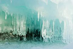 ice cave - stock photo