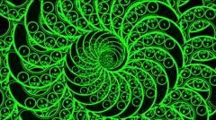 Phone dial vintage vj loop spiral Stock Footage