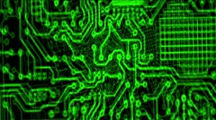 Printed circuit board 002 Vj Loop Particle Stock Footage