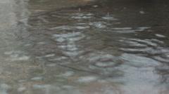 Heavy rain [pond] Stock Footage